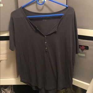 American eagle soft tee Henley navy xs
